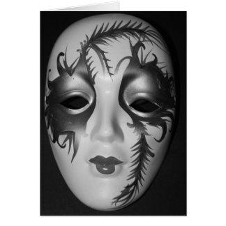 Tarjeta vieja de la máscara de la mascarada de Chi