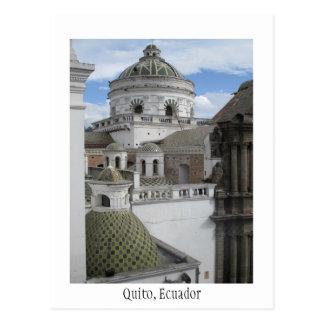 Tarjeta vieja de Quito Ecuador de la ciudad