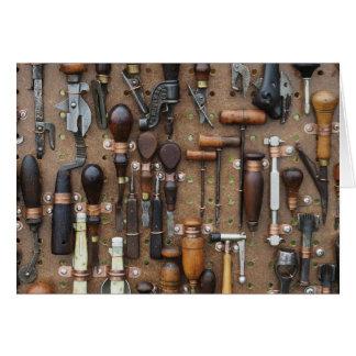 Tarjeta Viejo espacio en blanco de las herramientas