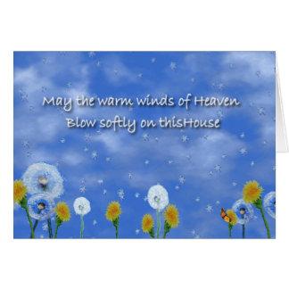 Tarjeta Vientos calientes del cielo