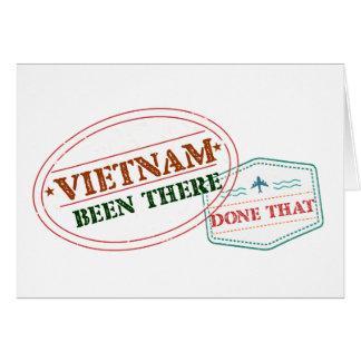 Tarjeta Vietnam allí hecho eso