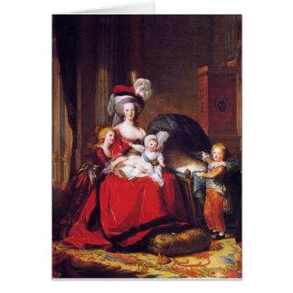 Tarjeta Vigée-Lebrun - Marie Antonieta y sus niños
