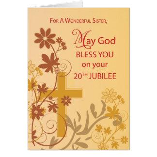Tarjeta vigésimo Cruz de la monja del aniversario del