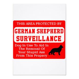 Tarjeta vigilancia del perro de pastor alemán