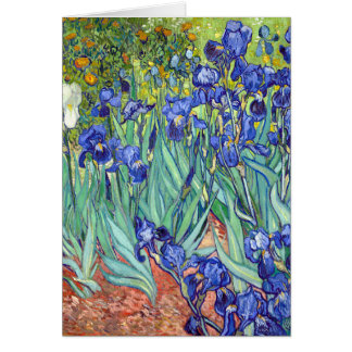 Tarjeta Vincent van Gogh 1889 iris