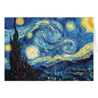 Tarjeta Vincent van Gogh - noche estrellada