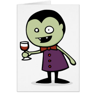 Tarjeta Vino del vampiro