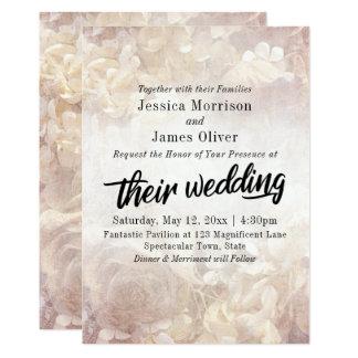 Tarjeta Vintage, boda romántico, floral, intrépido de la