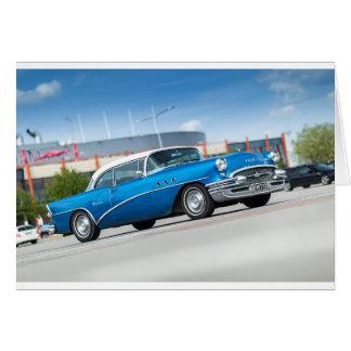 Tarjeta Vintage clásico azul del coche viejo del Special