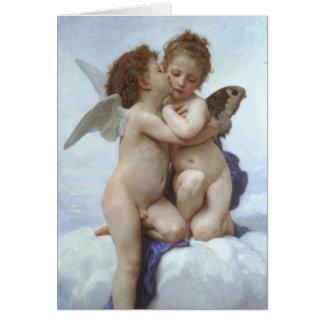 Tarjeta Vintage, Cupid y psique de PixDezines como niños