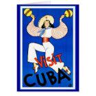Tarjeta Vintage de Cuba de la visita