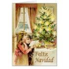Tarjeta Vintage de Navidad 1902