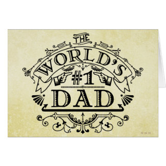 Tarjeta Vintage del papá del número uno del mundo