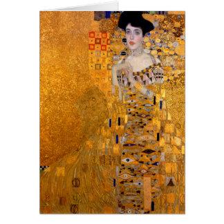 """Tarjeta Vintage del retrato de Gustavo Klimt """"Adela"""""""