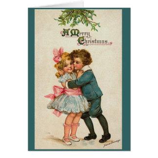 Tarjeta Vintage Felices Navidad