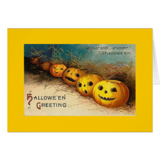 Tarjeta Vintage Halloween