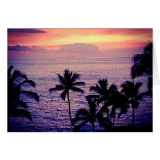 Tarjeta Vintage Hawaii