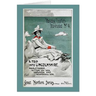 Tarjeta Vintage Lincolnshire, Reino Unido, prospecto del