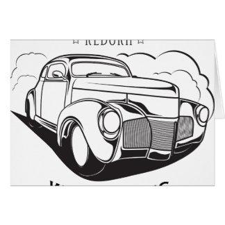 Tarjeta Vintage retro del coche clásico