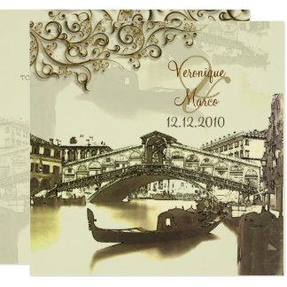 Tarjeta Vintage Venezia de PixDezines+Puente de Rialto