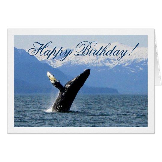 Tarjeta Violación del Humpback; Feliz cumpleaños