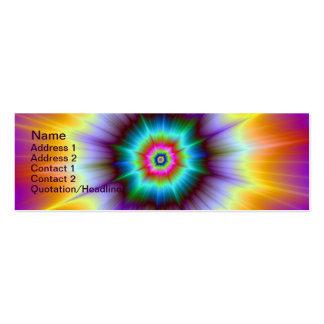 Tarjeta violeta de la explosión del naranja y de l plantilla de tarjeta de visita