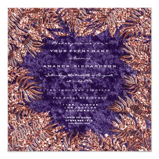 Tarjeta Violeta metalizado del cobre del terciopelo del