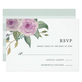 Tarjeta violeta y sabia de RSVP Invitación 8,9 X 12,7 Cm