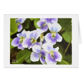 Tarjeta Violetas de los Wildflowers florales/mirada de la