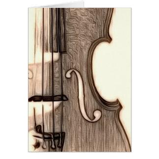 Tarjeta ¿Violín, viola, violoncelo?
