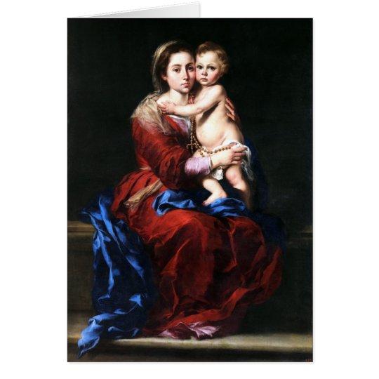 Tarjeta virgen del rosario bartolome esteban murillo zazzle tarjeta virgen del rosario bartolome esteban murillo altavistaventures Choice Image