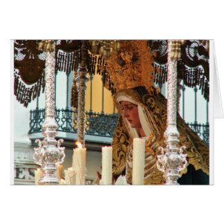 Tarjeta Virgen María