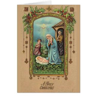 Tarjeta Virgen María de la natividad del navidad del