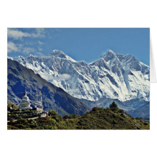 Tarjeta Visiónes desde Nepal en manera al MONTE EVEREST