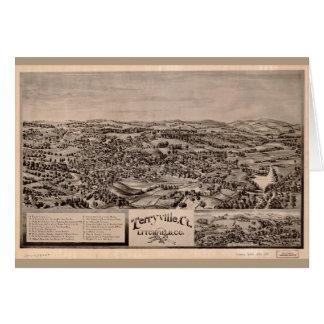 Tarjeta Vista aérea de Terryville, Connecticut (1894)