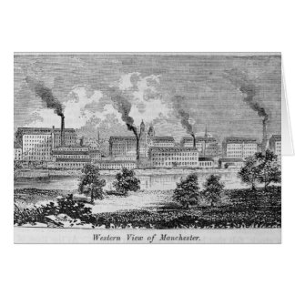 Tarjeta Vista occidental de Manchester