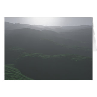 Tarjeta Vista pálida de colinas