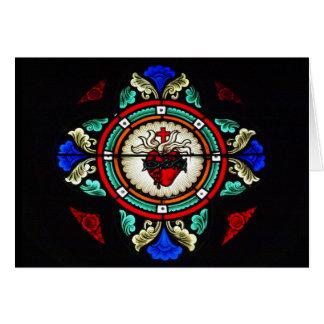 Tarjeta Vitral sagrado del corazón