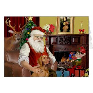 Tarjeta Vizsla de Santa