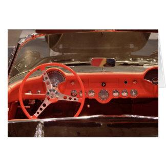 Tarjeta Volante 1956 y rociada de Chevrolet Corvette