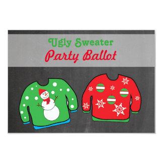 Tarjeta Votación de votación del suéter de la competencia