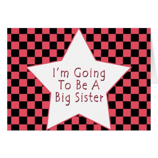Tarjeta Voy a ser una hermana grande