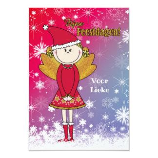 Tarjeta Vrolijke naam - kerstkaart met een kerst engeltje
