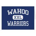 Tarjeta Wahoo - guerreros - High School secundaria - Wahoo