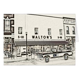 Tarjeta Walton cinco y moneda de diez centavos II