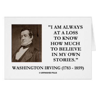 Tarjeta Washington Irving en una pérdida cree siempre