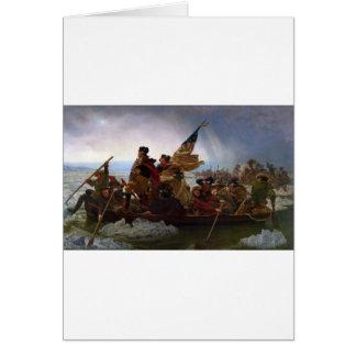 Tarjeta Washington que cruza arte del vintage del Delaware