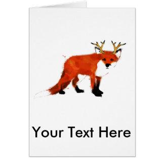 Tarjeta Watercolour del Fox