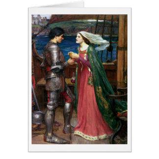Tarjeta Waterhouse de Juan W - Tristan e Isolda (1916)
