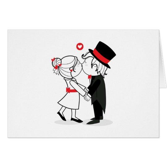 Tarjeta wedding kiss